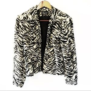 Giancarlo Ferrari Sz 10 Zebra Print Zipper Jacket